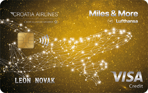Visa Gold Croatia Airlines kartica